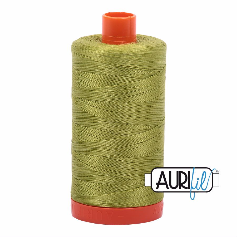Aurifil Cotton 50wt, 1147 Light Leaf Green