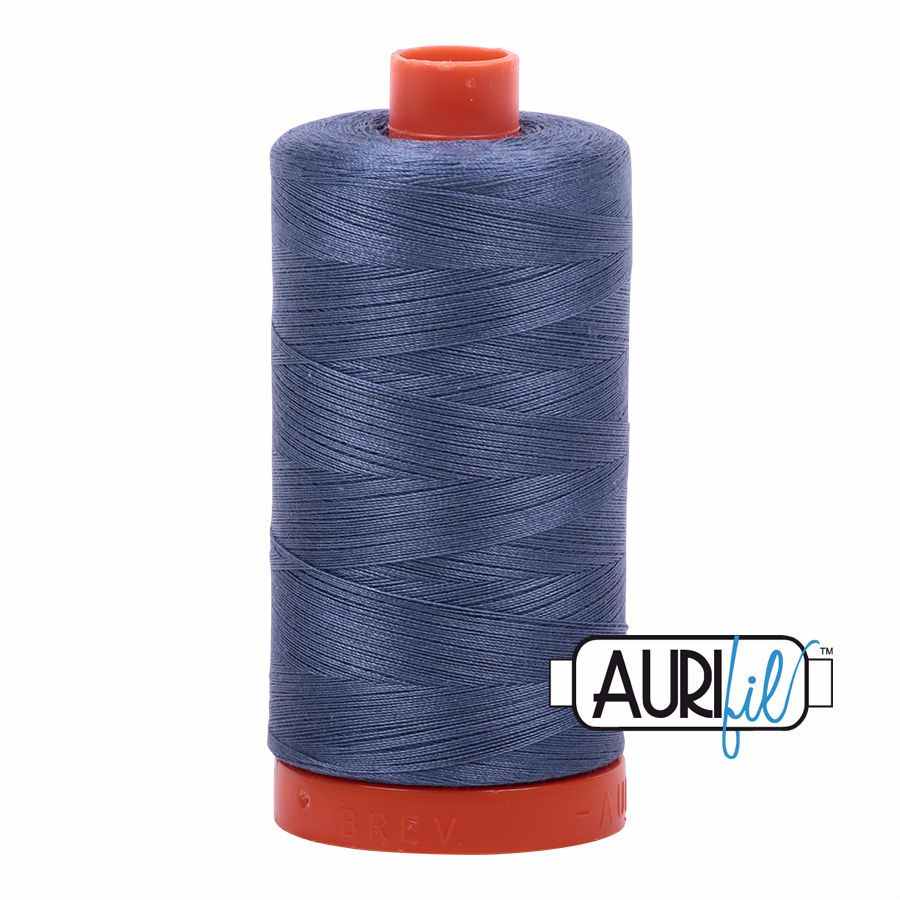 Aurifil Cotton 50wt, 1248 Dark Grey Blue