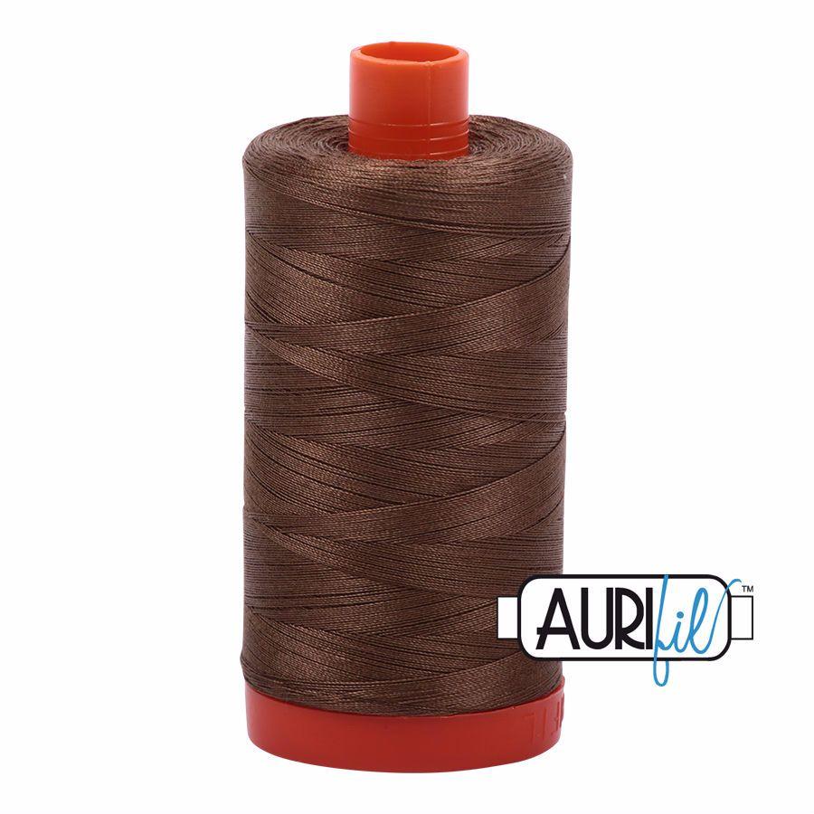 Aurifil Cotton 50wt, 1318 Dark Sandstone
