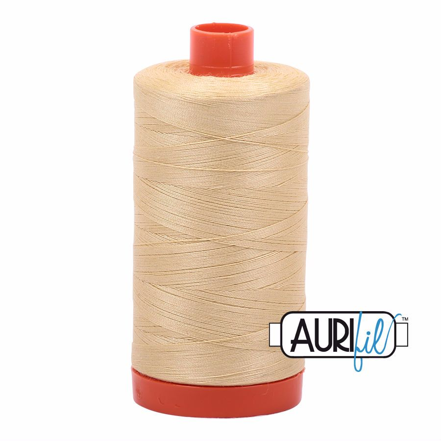 Aurifil Cotton 50wt, 2125 Wheat