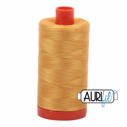 Aurifil Cotton 50wt, 2132 Tarnished Gold