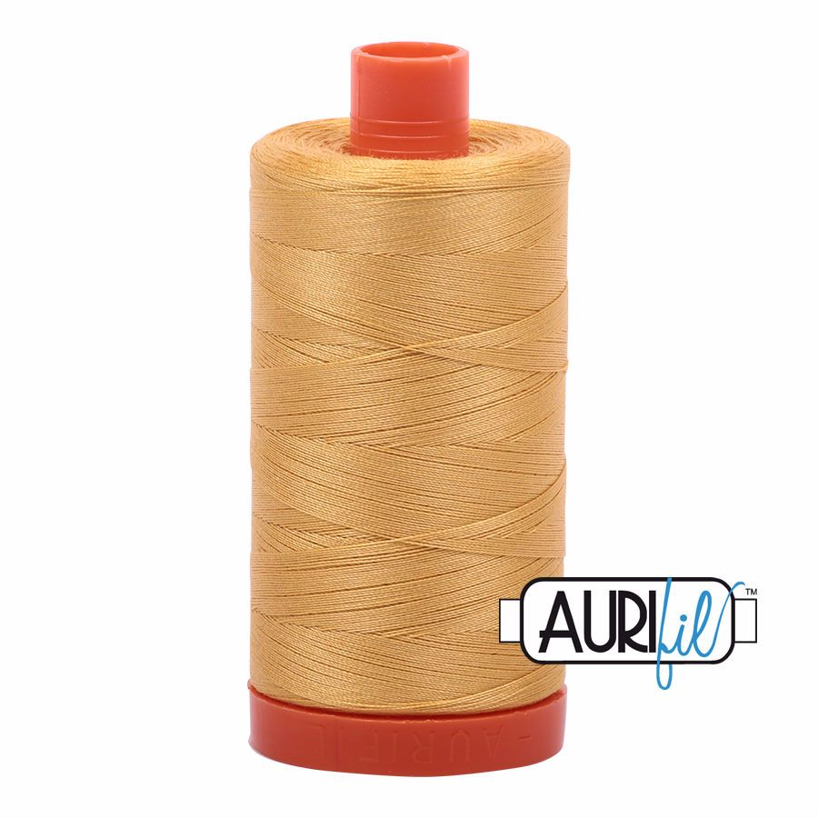 Aurifil Cotton 50wt, 2134 Spun Gold