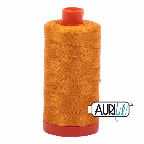 Aurifil Cotton 50wt, 2145 Yellow Orange