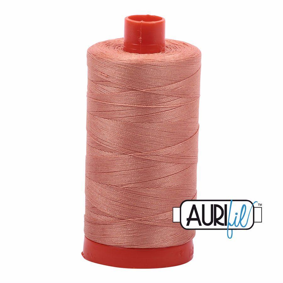 Aurifil Cotton 50wt, 2215 Peach
