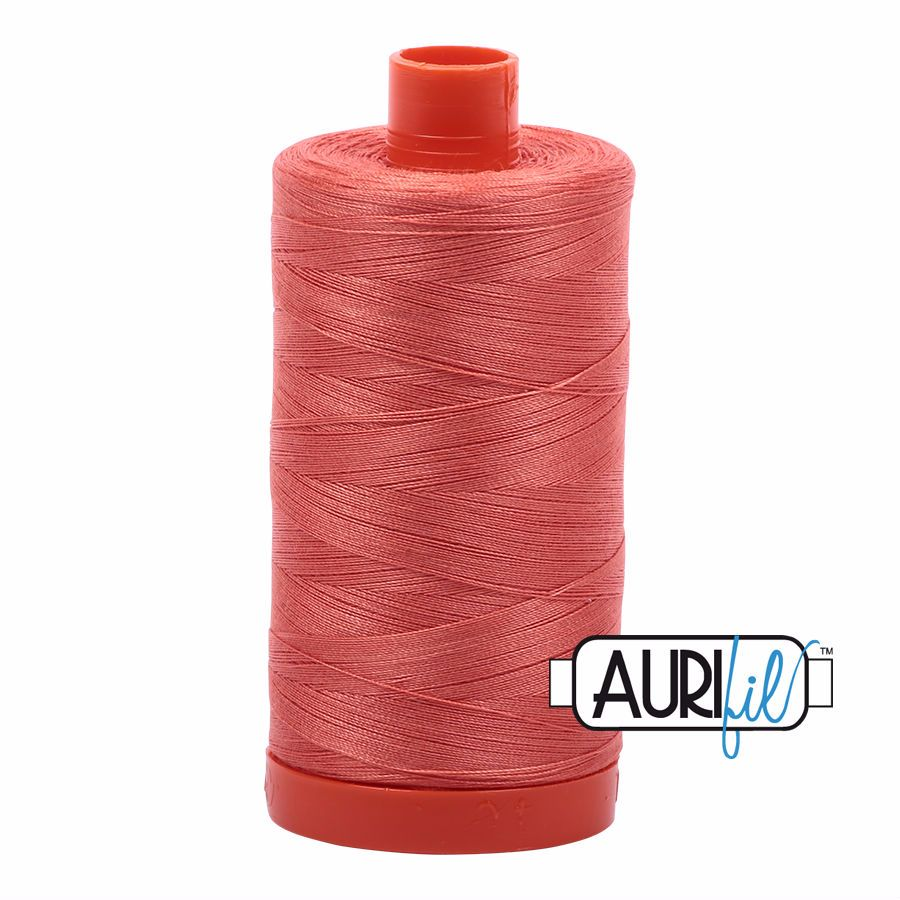 Aurifil Cotton 50wt, 2225 Salmon