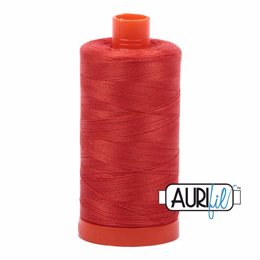 Aurifil Cotton 50wt, 2245 Red Orange