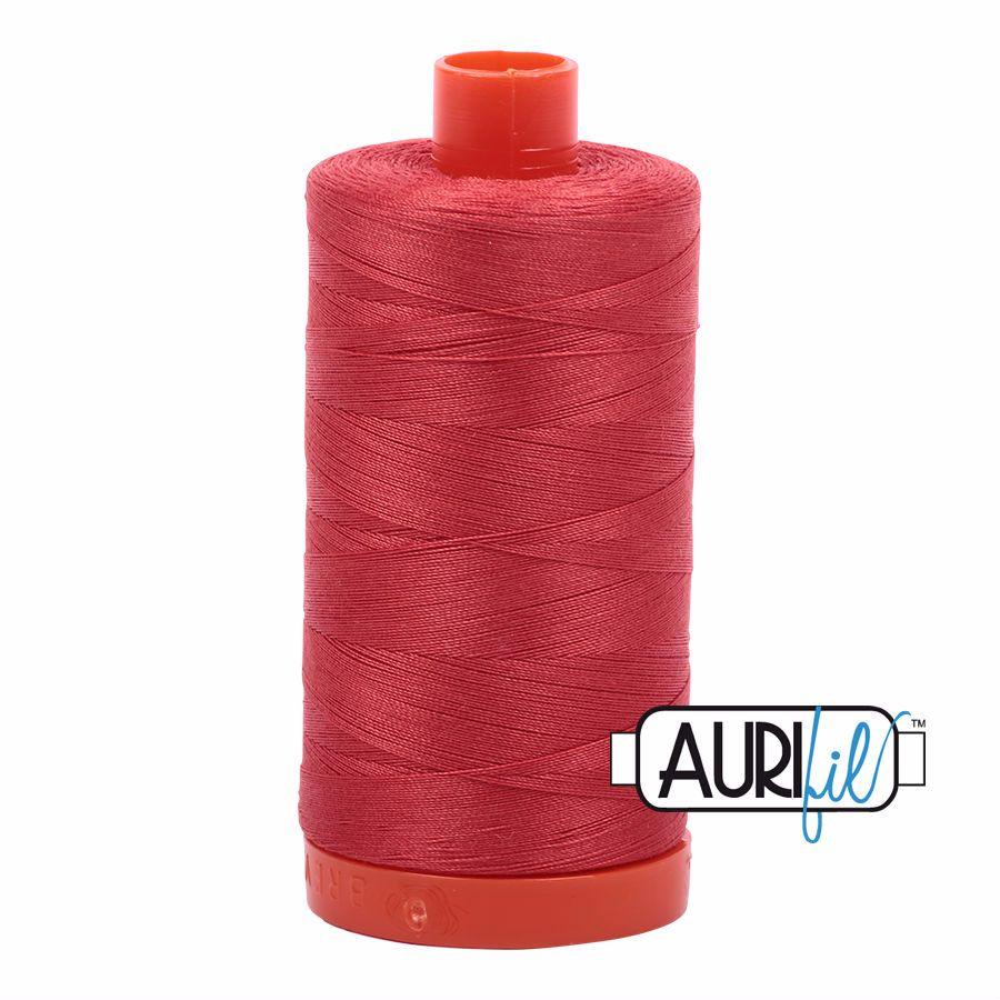 Aurifil Cotton 50wt, 2255 Dark Red Orange