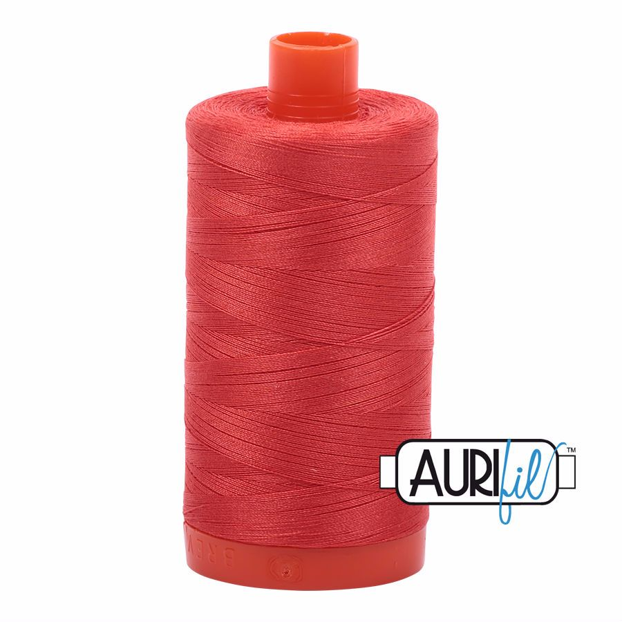 Aurifil Cotton 50wt, 2277 Light Red Orange