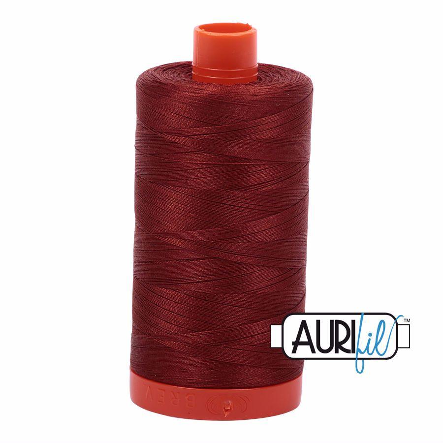 Aurifil Cotton 50wt, 2355 Rust