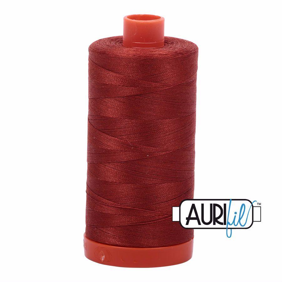Aurifil Cotton 50wt, 2385 Terracotta
