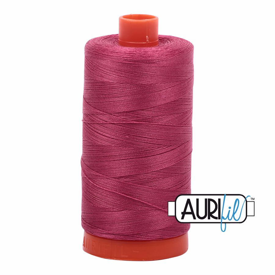 Aurifil Cotton 50wt, 2455 Medium Carmine Red