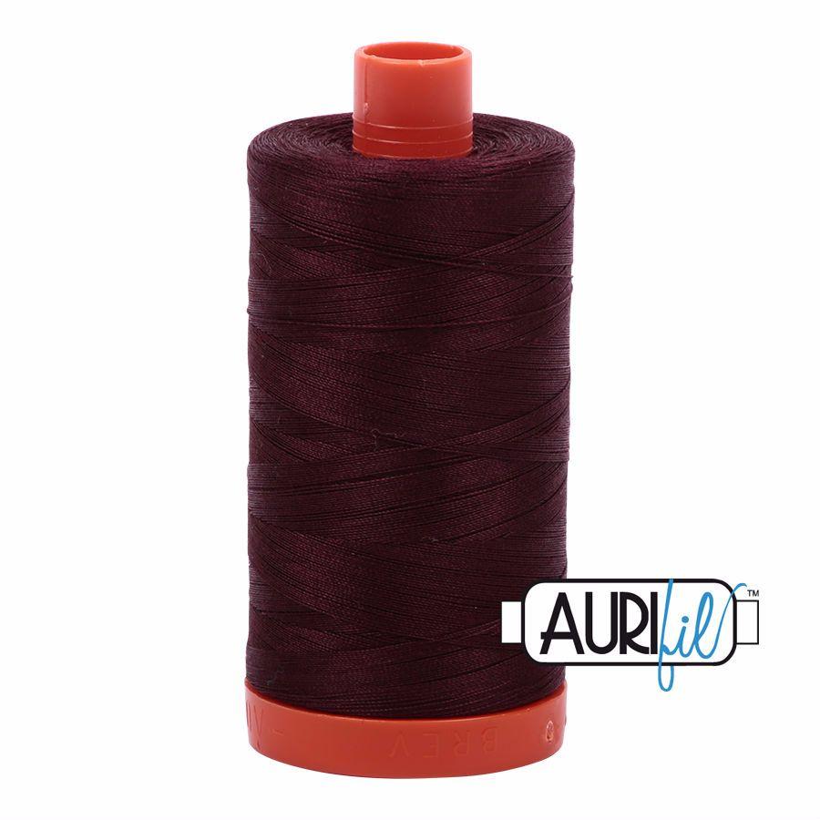 Aurifil Cotton 50wt, 2468 Dark Wine