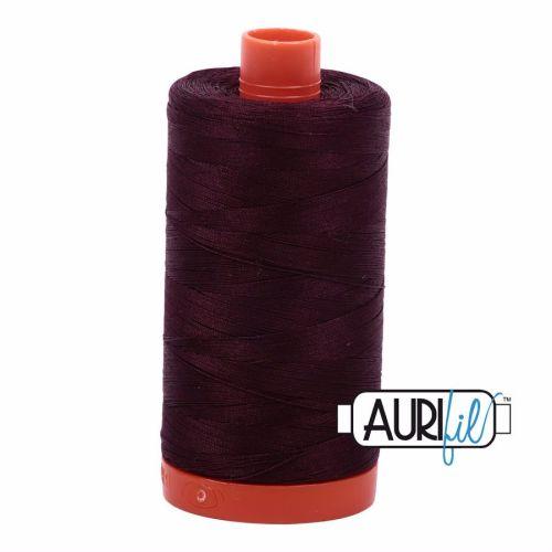 Aurifil Cotton 50wt, 2465 Very Dark Brown