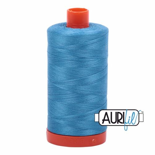 Aurifil Cotton 50wt, 1320 Bright Teal