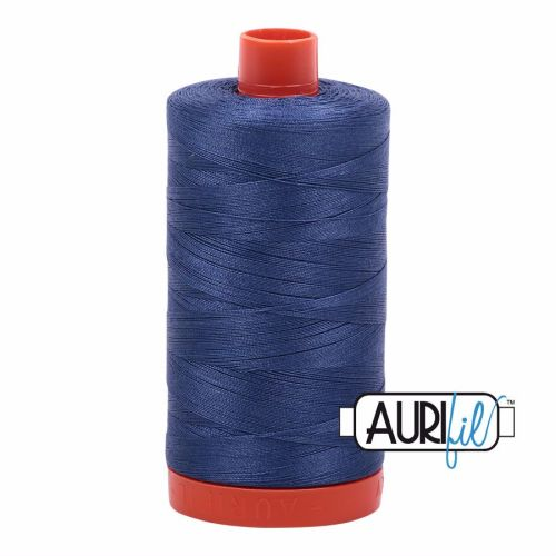Aurifil Cotton 50wt, 2775 Steel Blue