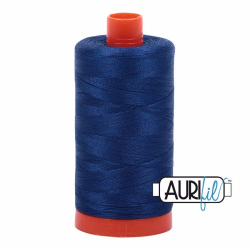 Aurifil Cotton 50wt, 2780 Dark Delft Blue