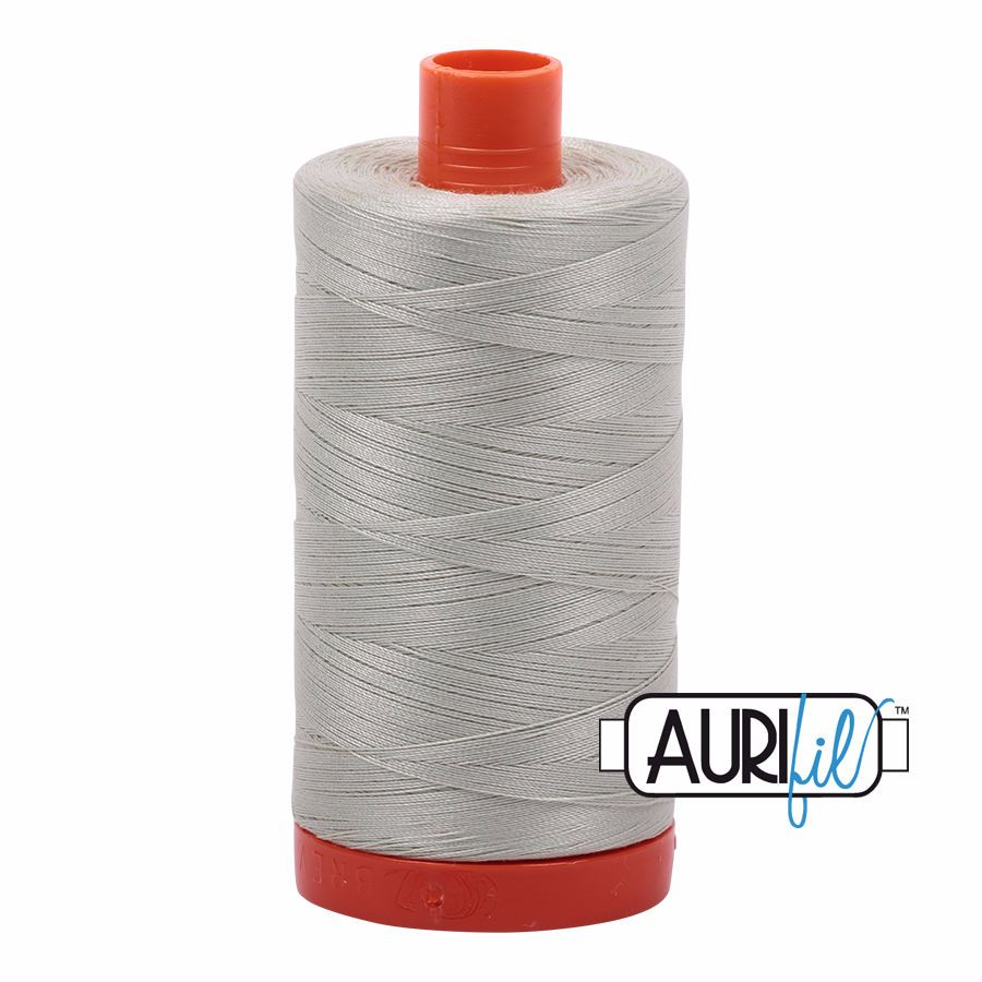 Aurifil Cotton 50wt, 2843 Light Grey Green