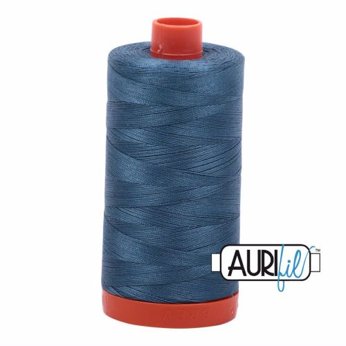 Aurifil Cotton 50wt, 4644 Smoke Blue