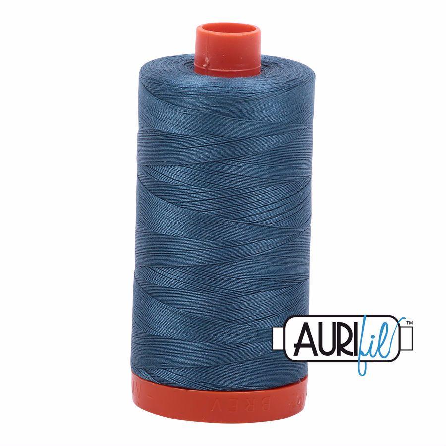 Aurifil Cotton 50wt, 4644 Smoke Blue