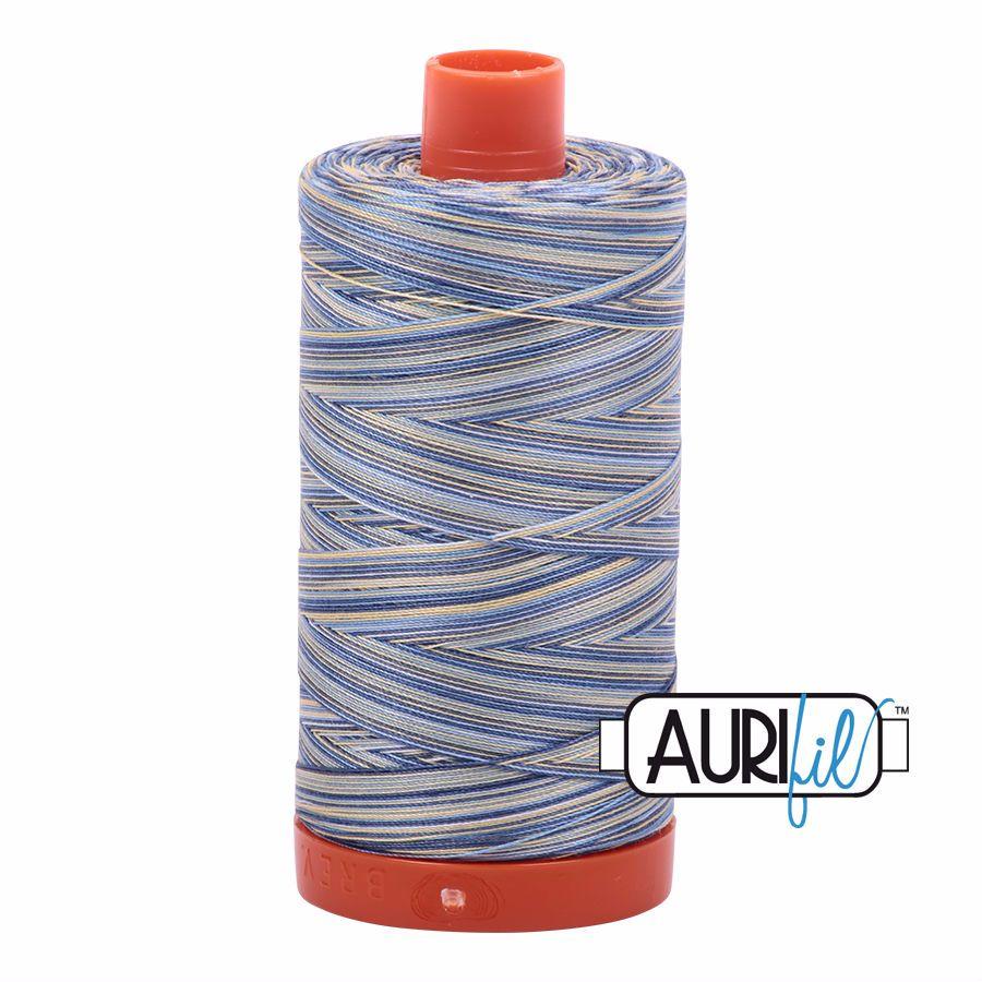 Aurifil Cotton 50wt, 4649 Lemon Blueberry