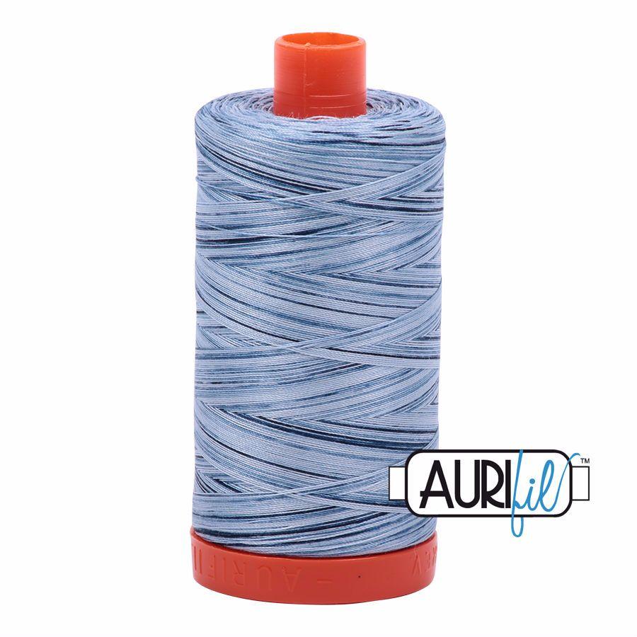 Aurifil Cotton 50wt, 4669 Stonewash Blues
