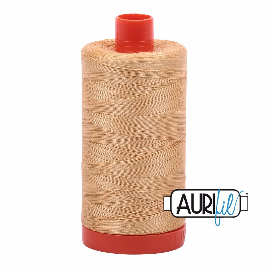 Aurifil Cotton 50wt, 5001 Ochre Yellow