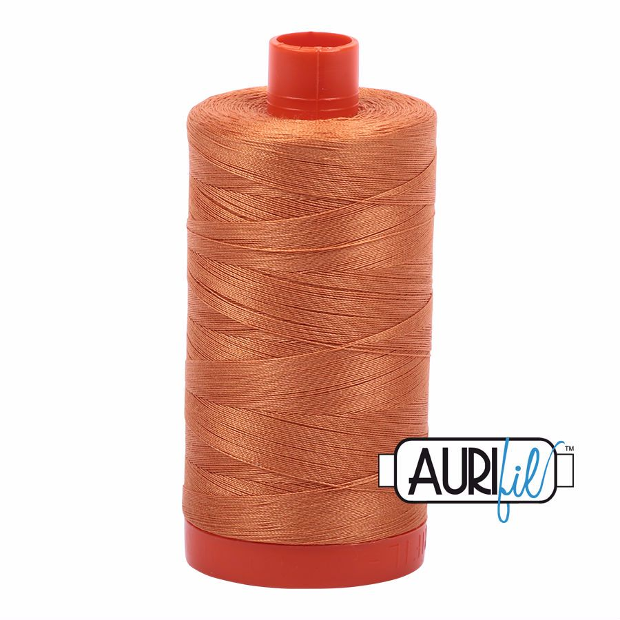 Aurifil Cotton 50wt, 5009 Medium Orange
