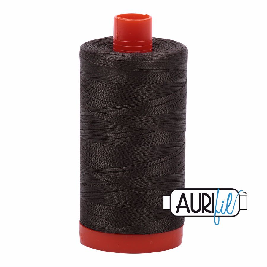 Aurifil Cotton 50wt, 5013 Asphalt