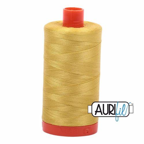 Aurifil Cotton 50wt, 5015 Gold Yellow