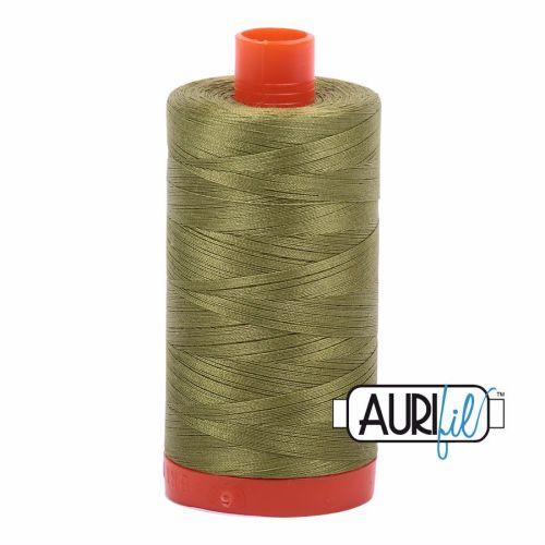 Aurifil Cotton 50wt, 5016 Olive Green