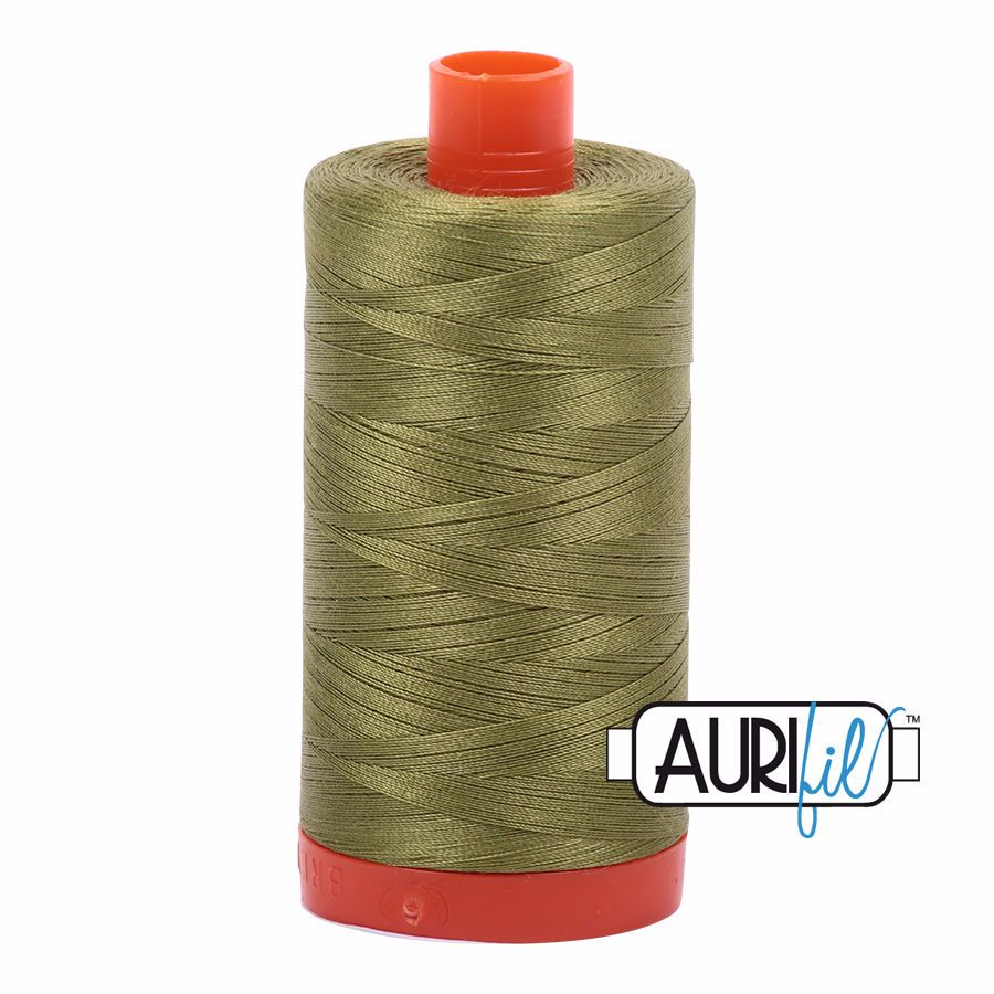 Aurifil Cotton 50wt, 5016 Olive Green