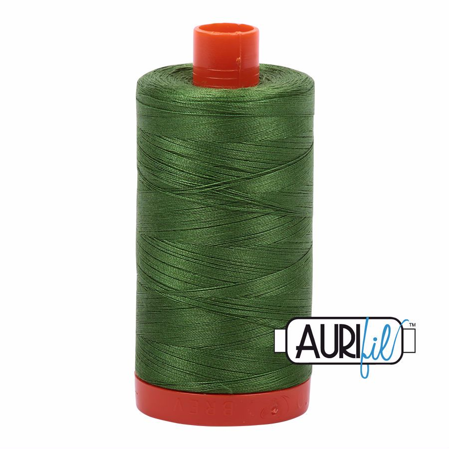 Aurifil Cotton 50wt, 5018 Dark Grass Green