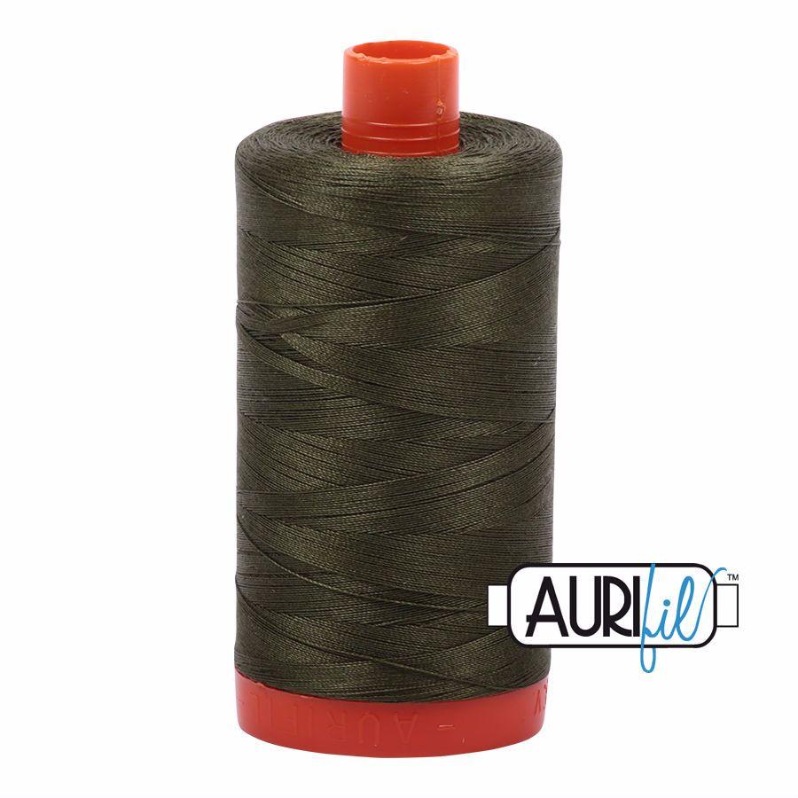 Aurifil Cotton 50wt, 5023 Medium Green