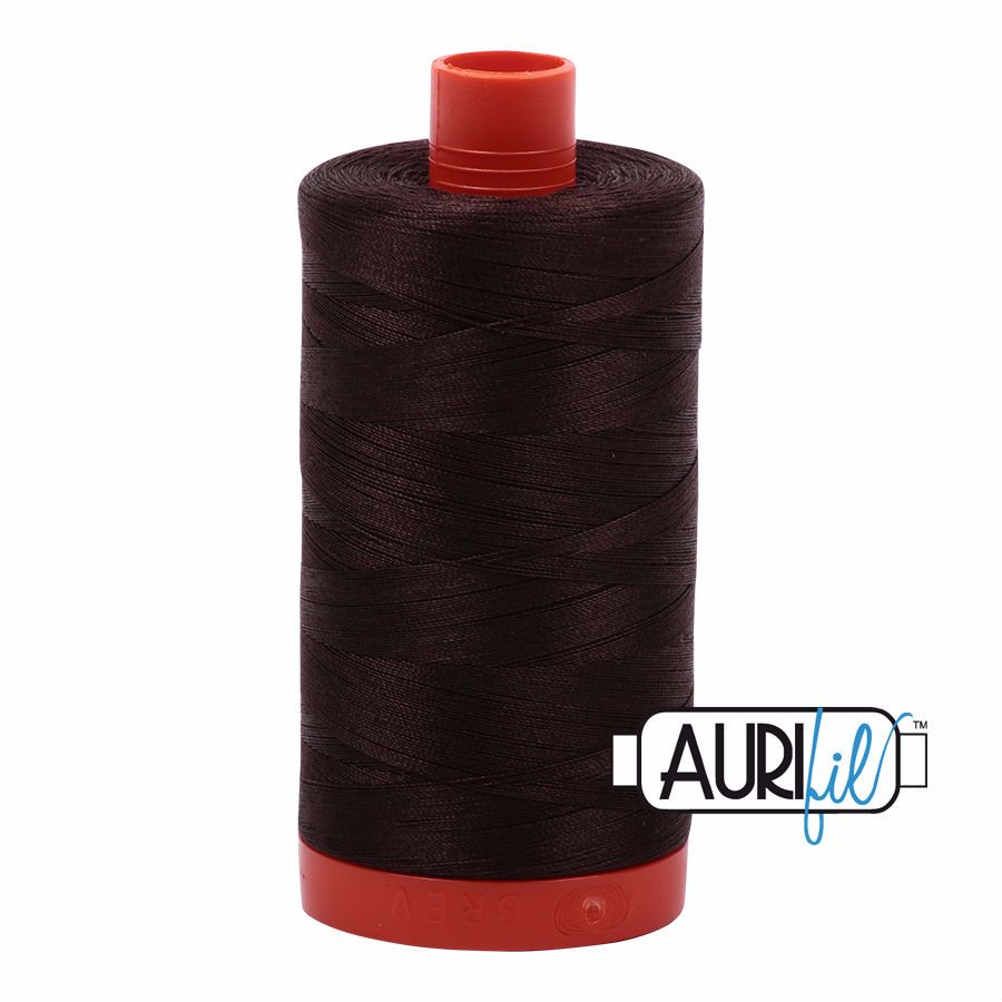 Aurifil Cotton 50wt, 5024 Dark Brown