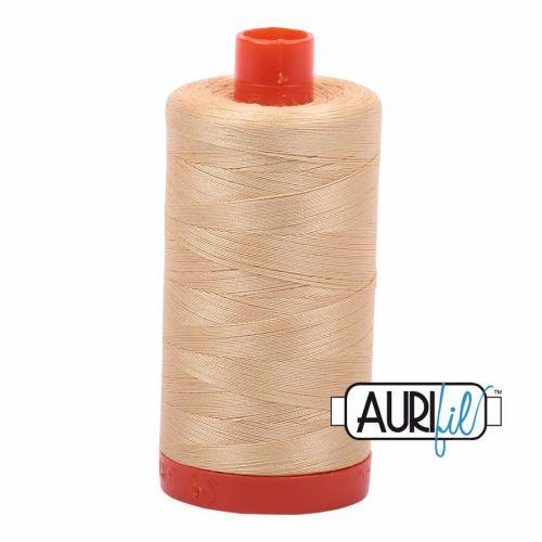 Aurifil Cotton 50wt, 6001 Light Caramel