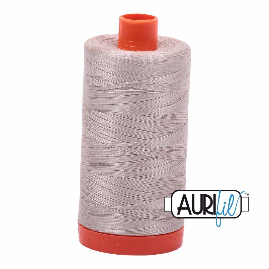Aurifil Cotton 50wt, 6711 Pewter