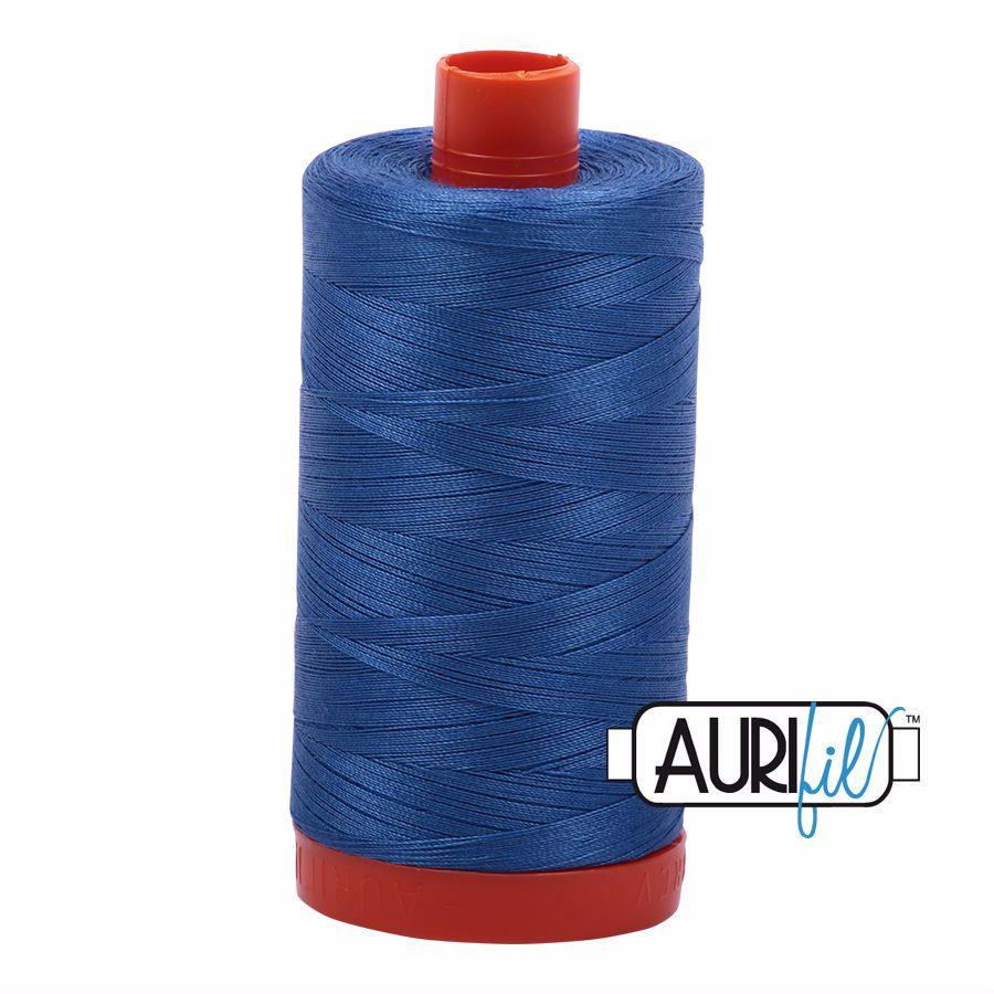 Aurifil Cotton 50wt, 6738 Peacock Blue