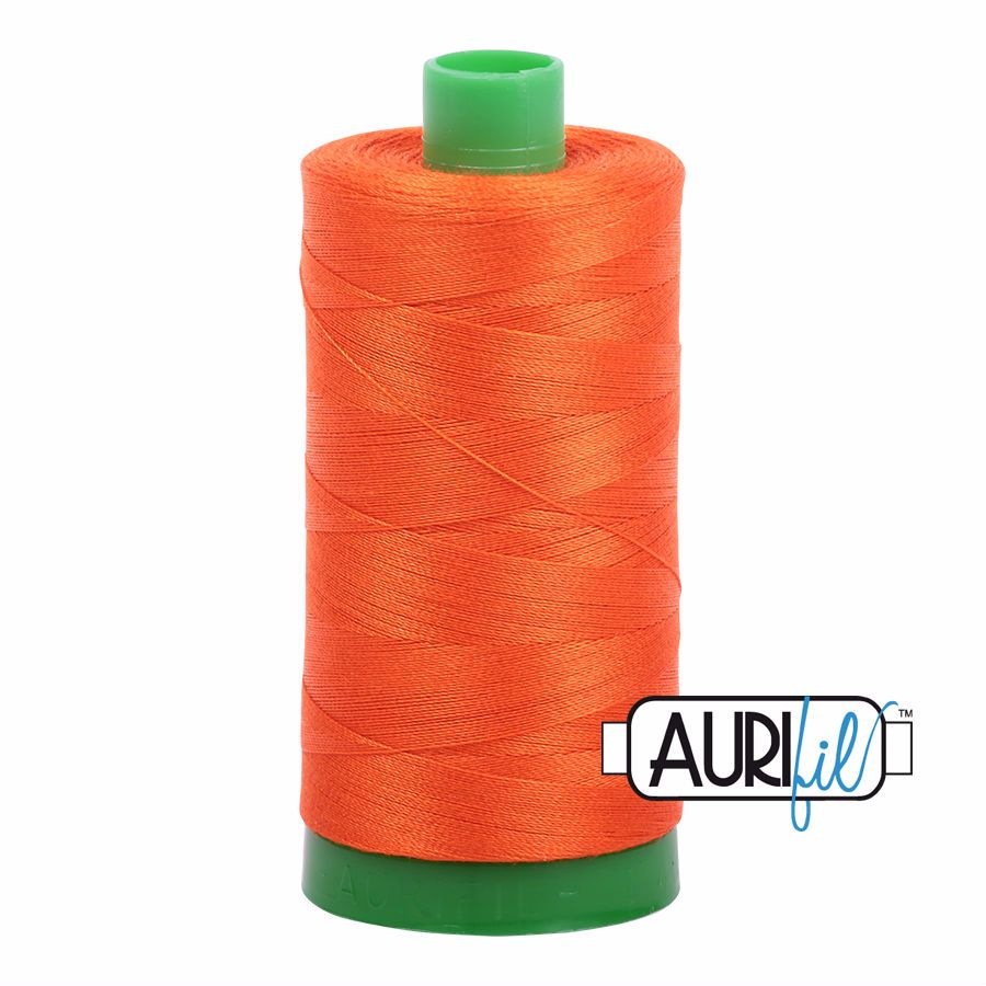 Aurifil Cotton 40wt, 1104 Neon Orange
