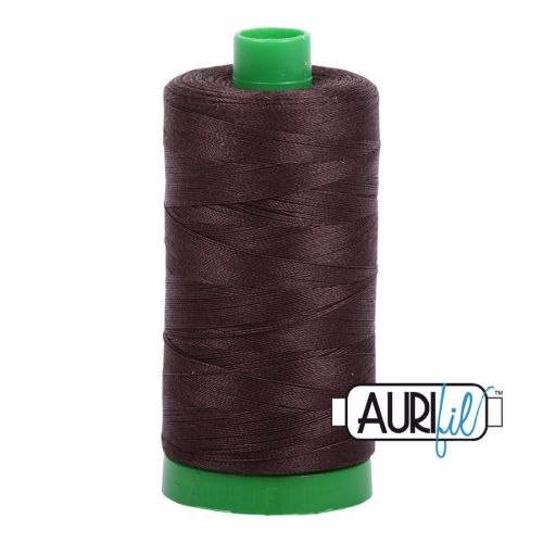 Aurifil Cotton 40wt, 1130 Very Dark Bark