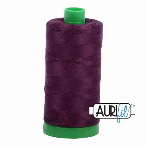 Aurifil Cotton 40wt, 1240 Very Dark Eggplant