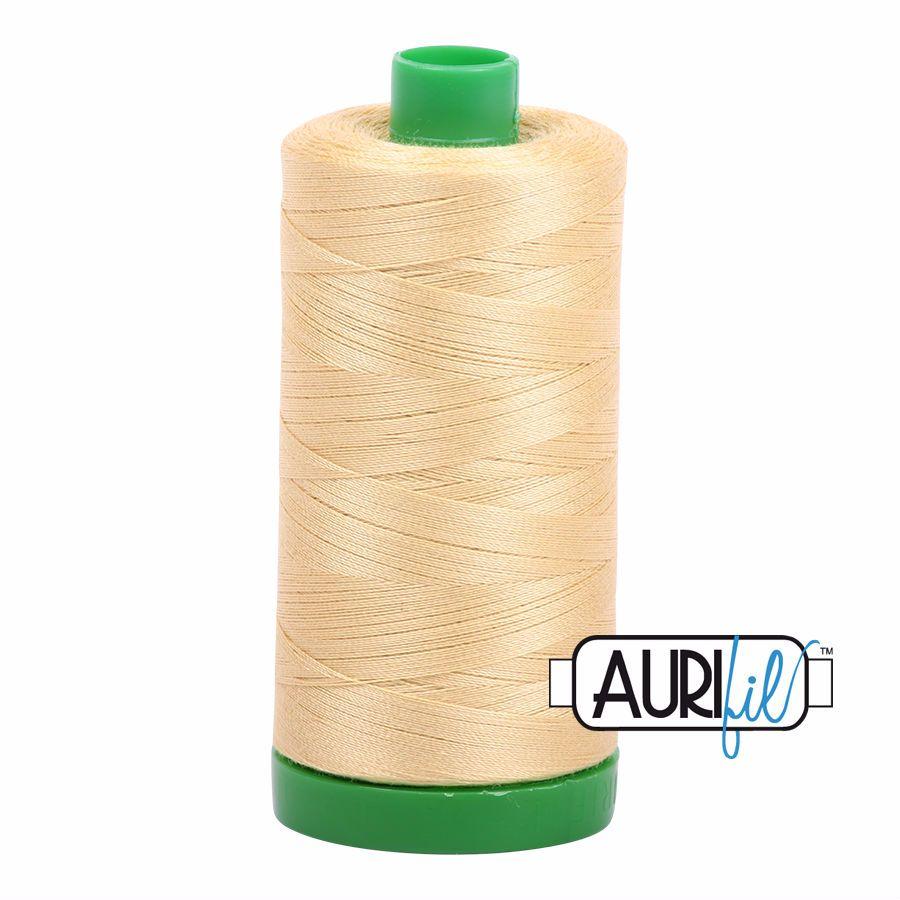 Aurifil Cotton 40wt, 2125 Wheat
