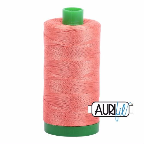 Aurifil Cotton 40wt, 2225 Salmon