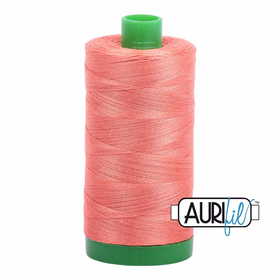 Aurifil Cotton 40wt, 2225 Salmon