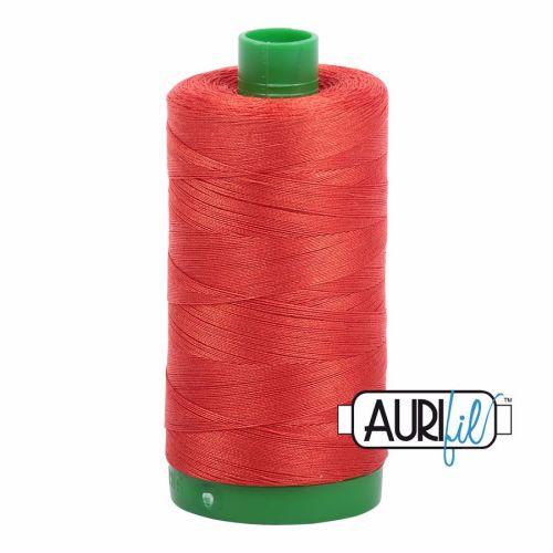 Aurifil Cotton 40wt, 2245 Red Orange