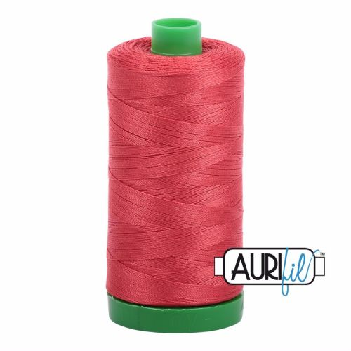 Aurifil Cotton 40wt, 2255 Dark Red Orange