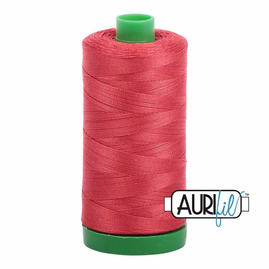 Aurifil Cotton 40wt, 2255 Dark Red Orange