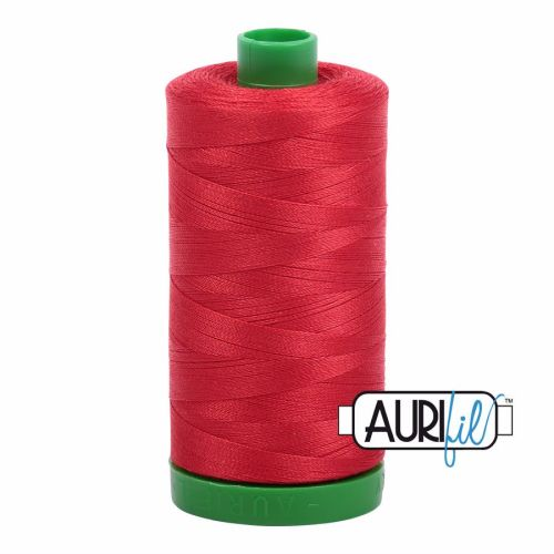 Aurifil Cotton 40wt, 2265 Lobster Red