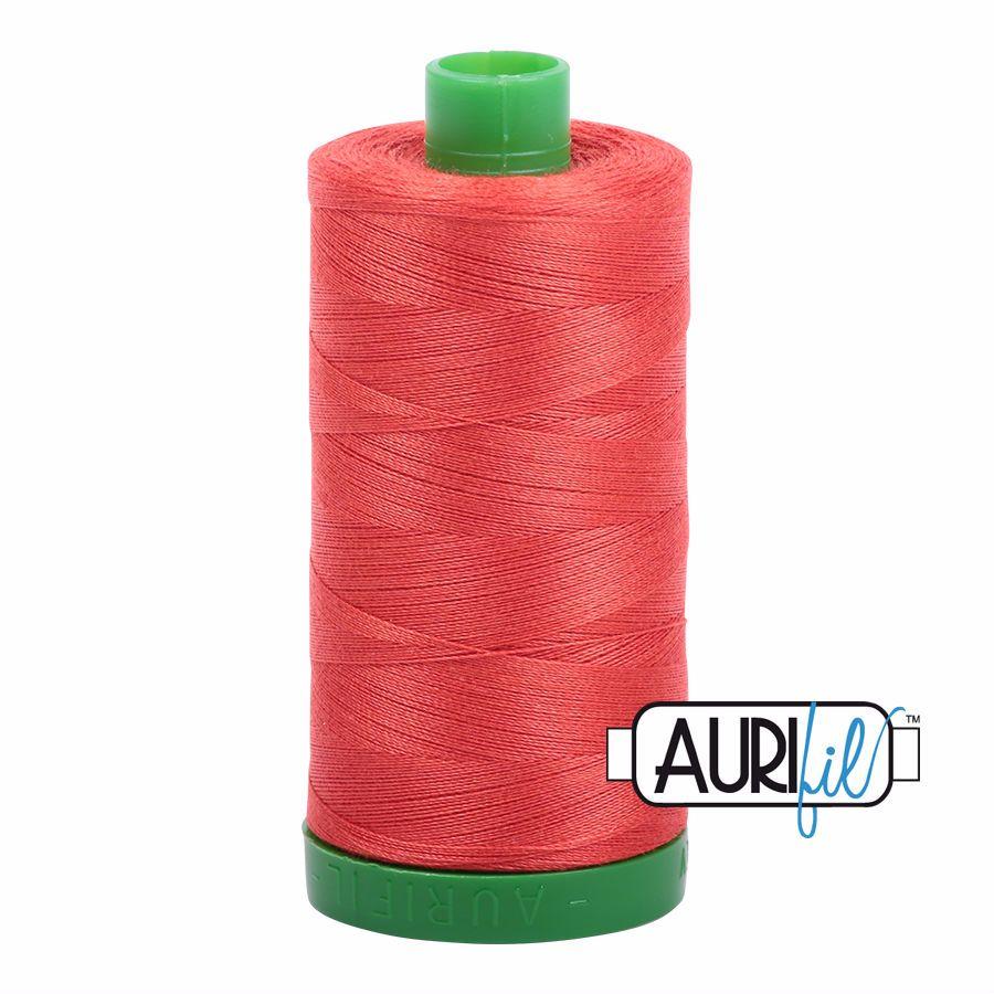 Aurifil Cotton 40wt, 2277 Light Red Orange