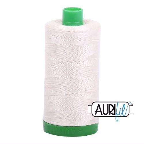 Aurifil Cotton 40wt, 2309 Silver White