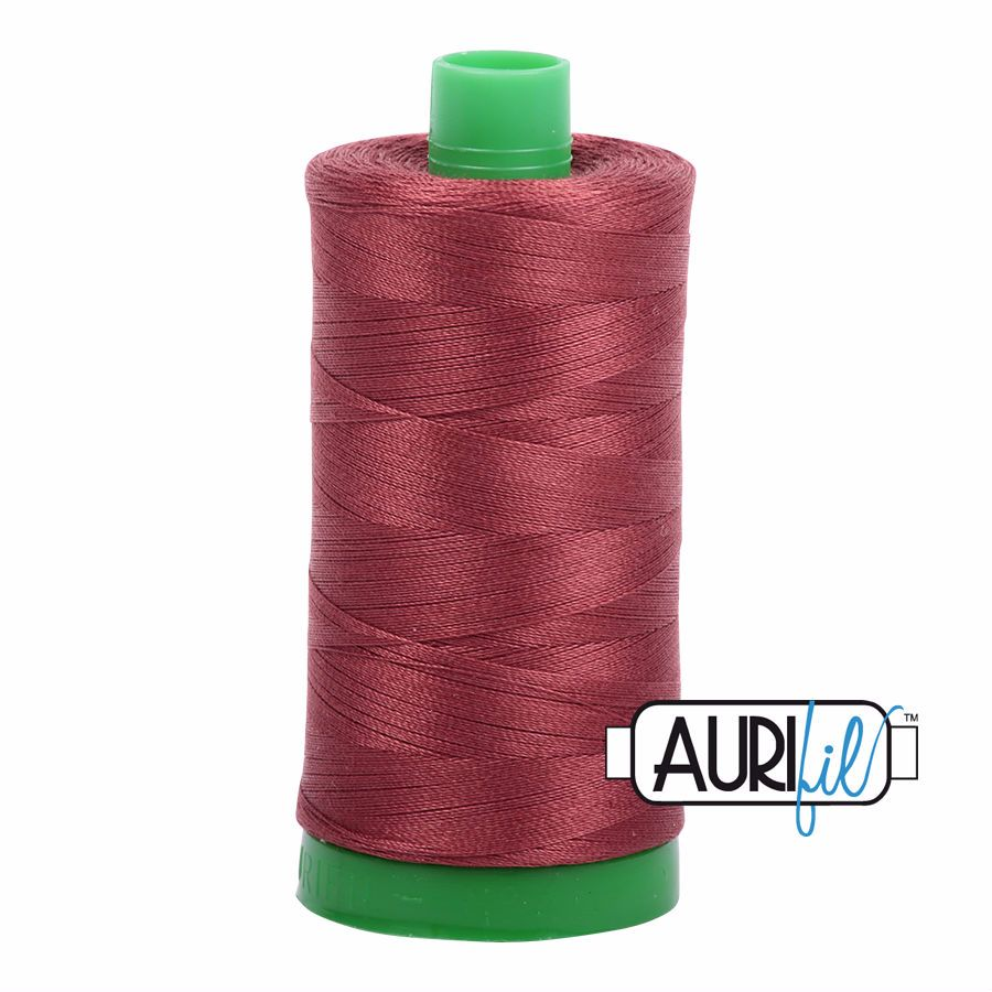 Aurifil Cotton 40wt, 2345 Raisin